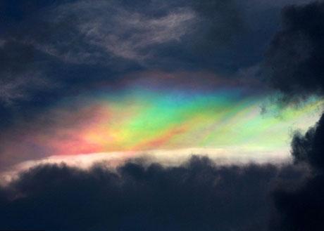 Mây ngũ sắc xuất hiện ở Trung Quốc