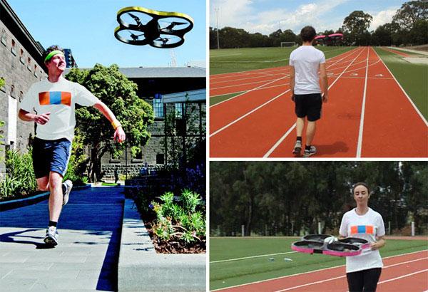 Robot đồng hành cùng người chạy bộ