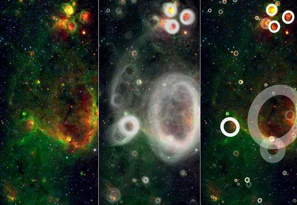 Tiết lộ ảnh pháo bông đầu tiên trong vũ trụ