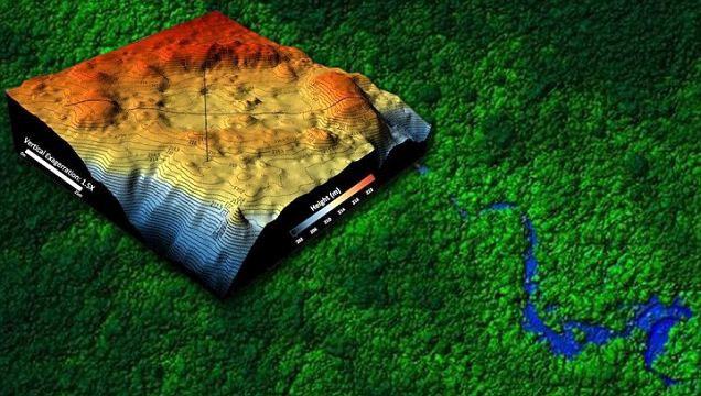 Bản đồ 3D về khu vực đáng nghi ngờ trong rừng rậm Honduras