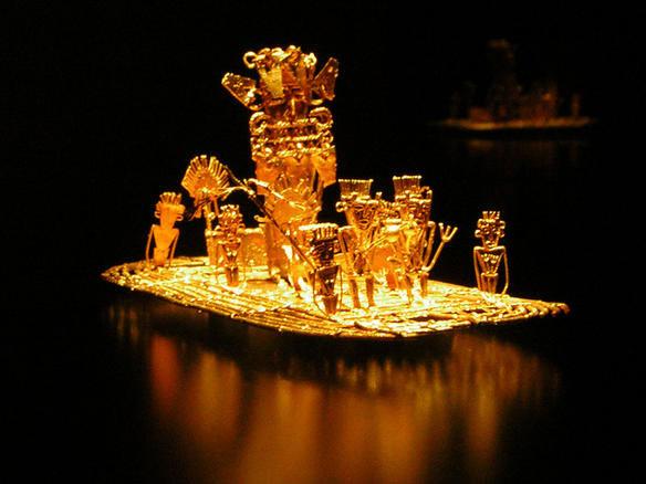 Phiên bản bằng vàng mô tả một phần thành phố El Dorado đang được trưng bày tại Colombia