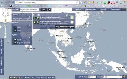 Khám phá động, thực vật trên bản đồ trực tuyến