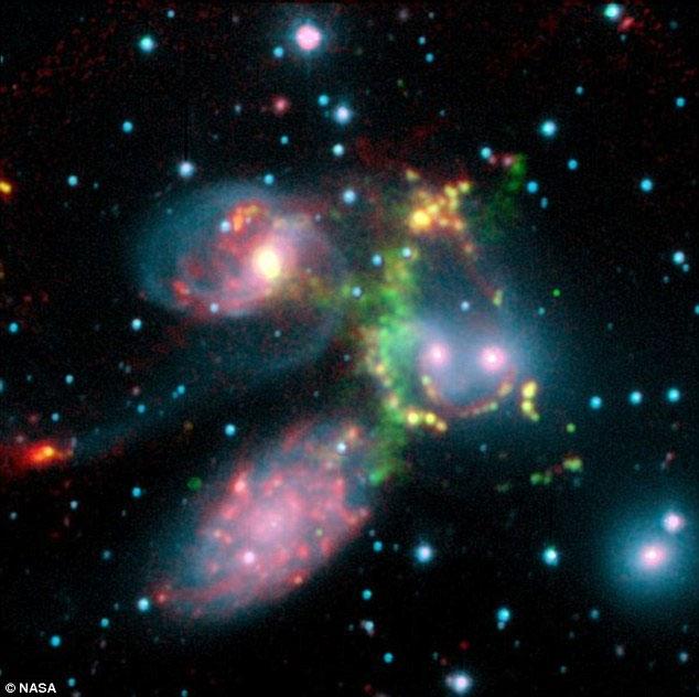 Trận chiến giữa năm thiên hà trong vũ trụ