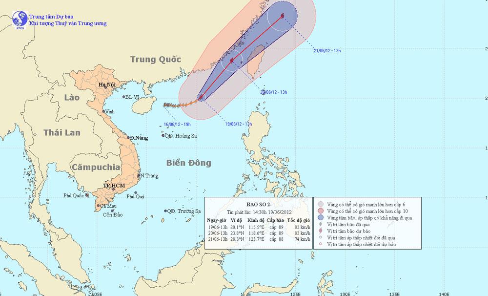 Tin bão trên biển Đông, cơn bão số 2