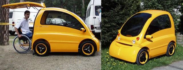 Ô tô điện dành cho người ngồi xe lăn
