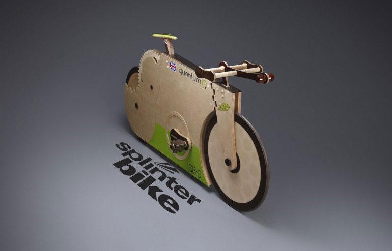 Độc đáo chiếc xe đạp chế tạo hoàn toàn từ gỗ