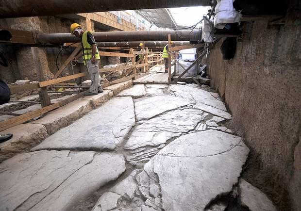 Đoạn đường dài 70m của người Roman vừa được phát hiện.
