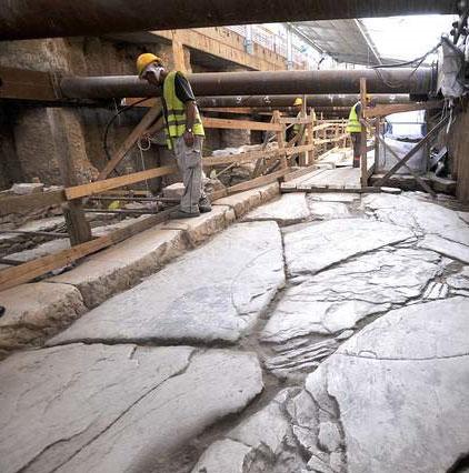 Phát hiện đoạn đường xây cách đây 2.000 năm