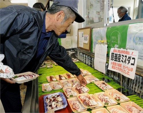 """Hải sản Fukushima """"tái xuất"""" thị trường sau thảm họa hạt nhân"""