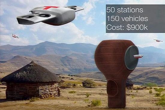 Dịch vụ giao hàng bằng máy bay tự động