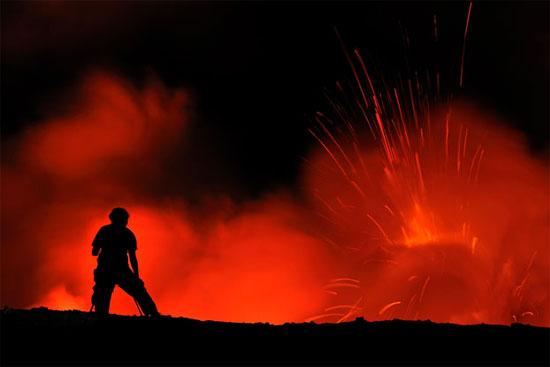 Rơi vào núi lửa