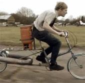 Video: Xe đạp phản lực chạy nhanh bằng ô tô