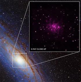 26 hố đen mới ở thiên hà Tiên Nữ