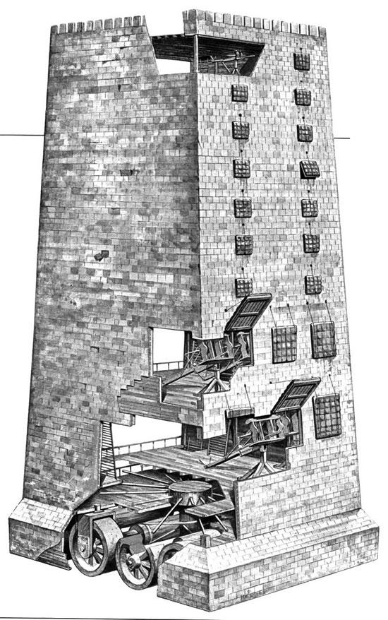 Tháp công thành, người Hi Lạp gọi là Helepolis