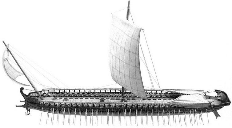 Trireme – chiến thuyền ba tầng chèo