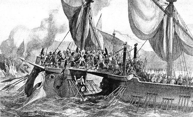 Những con thuyền này đóng vai trò rất quan trọng trong nhiều cuộc chiến lớn