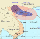 Bão số 2 cách bờ biển Quảng Ninh, Hải Phòng khoảng 590 km