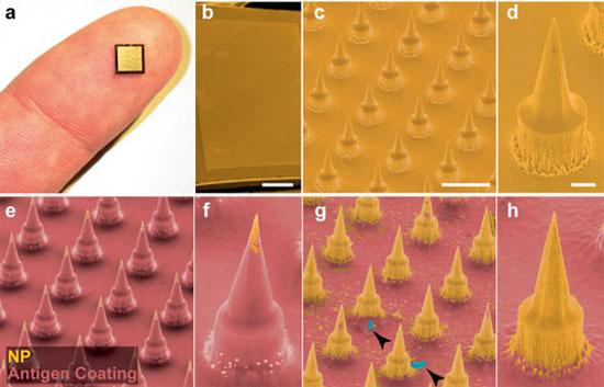 Miếng dán tiêm thuốc không đau Nanopatch
