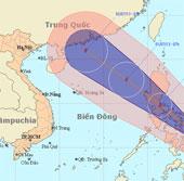 Áp thấp nhiệt đới mạnh thành bão gần biển Đông