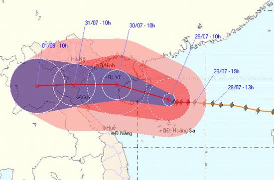 Diễn biến tiếp theo về cơn bão số 3