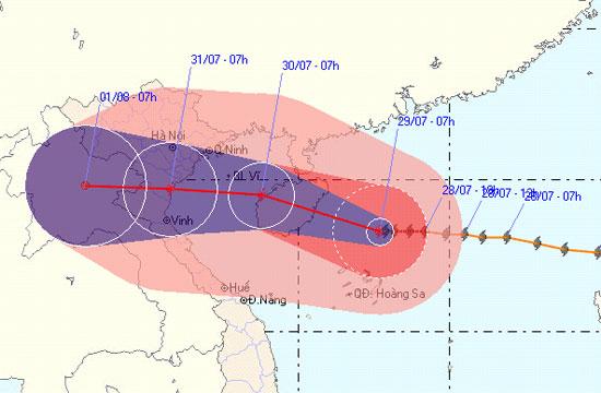 Tin bão gần bờ (Cơn bão số 3) - cập nhật