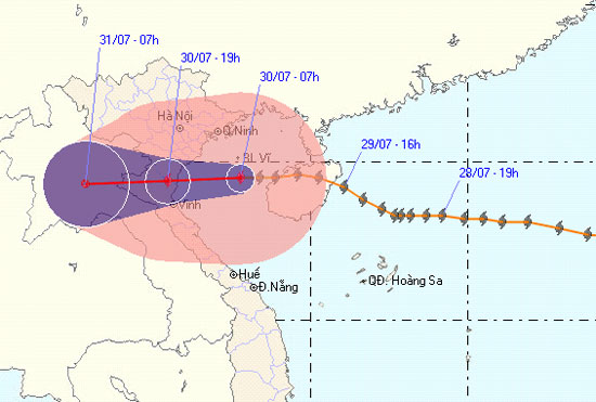 Đảo Cô Tô và Bạch Long Vĩ chịu ảnh hưởng của cơn bão số 3
