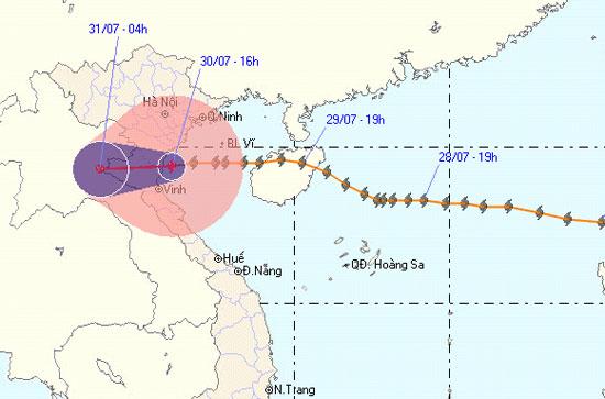 Bão số 3 ảnh hưởng tới các tỉnh Nam Định, Thái Bình
