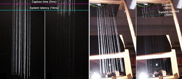 Hệ thống đèn pha mới làm giảm độ chói (bên trái) bằng cách giảm số lượng của ánh sáng chói có sẵn từ đèn pha (bên phải)