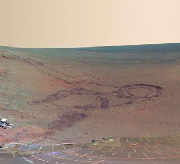 Cận cảnh miệng núi lửa lớn nhất trên sao Hỏa