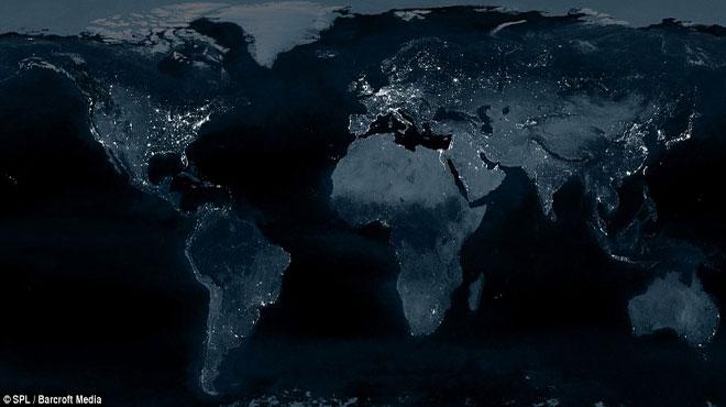 Bản đồ tiêu thụ năng lượng của thế giới