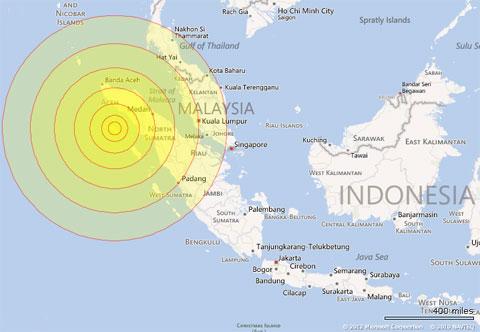 Động đất rung chuyển Indonesia