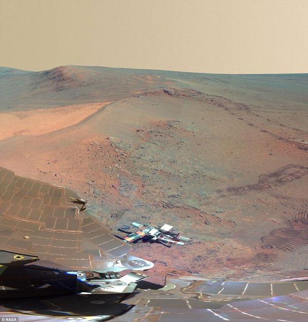 Toàn cảnh bề mặt sao Hỏa từ tàu vũ trụ Opportunity