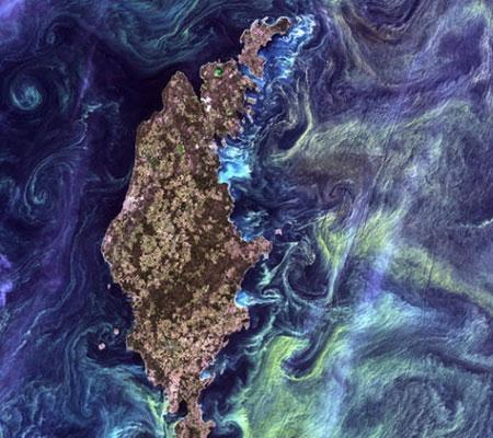 Đảo Gotland, Thụy Điển nhìn từ trên không