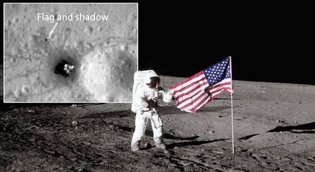 Cờ Mỹ vẫn đứng trên mặt trăng sau 40 năm