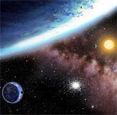 Viễn cảnh vũ trụ đầy trái đất