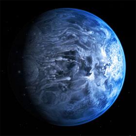 """Mưa thủy tinh trên """"hành tinh xanh"""" đặc biệt"""