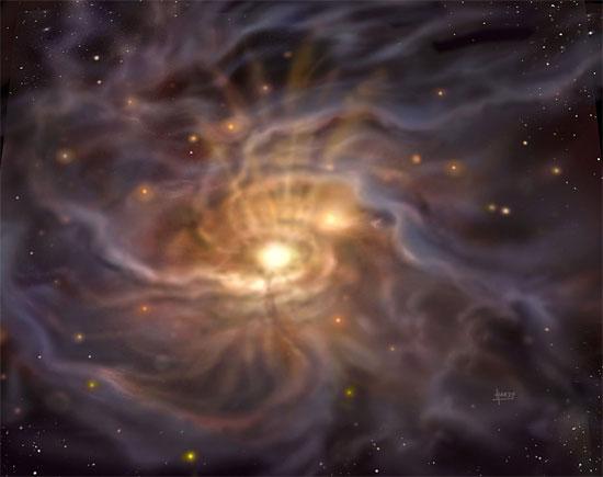 """Dải Ngân hà đang """"thai ngén"""" ngôi sao lớn nhất"""