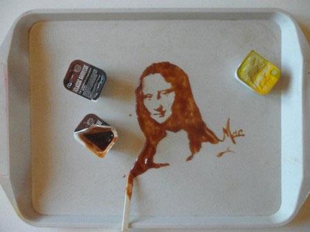 Vẽ tranh tuyệt đẹp bằng đồ ăn