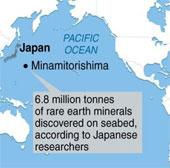 Nhật Bản được phép khai thác đất hiếm hiếm ở Thái Bình Dương