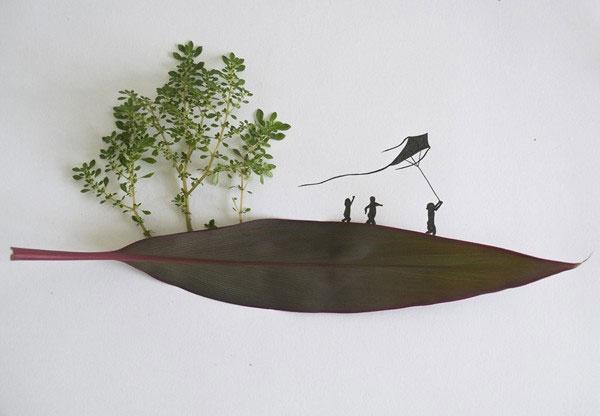 """Biến lá cây thành sáng tạo """"không ai ngờ tới"""""""