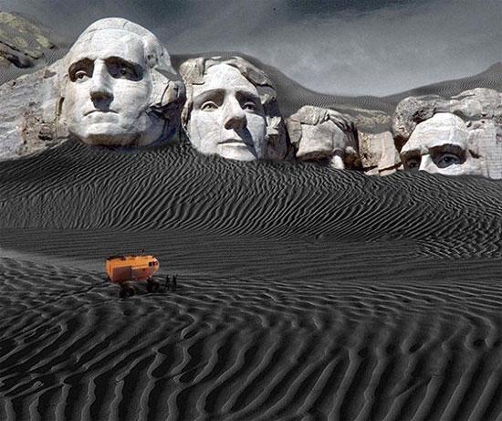 Trái đất bị vùi trong tro tàn của núi lửa, đặc biệt là hệ thống siêu núi lửa Yellowstone