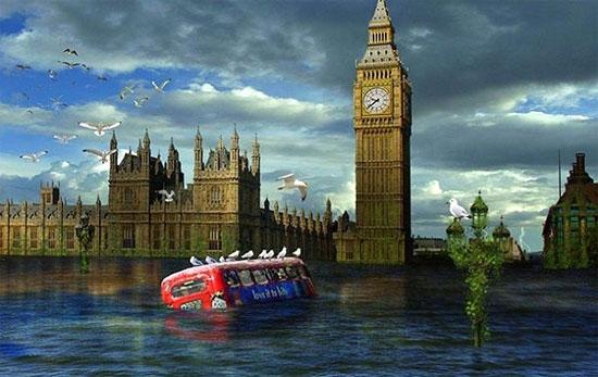 Tới năm 2100, mực nước biển có thể dâng lên 0,8 - 2m.