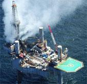 Phụt khí đốt gây cháy tại giếng dầu ở vịnh Mexico