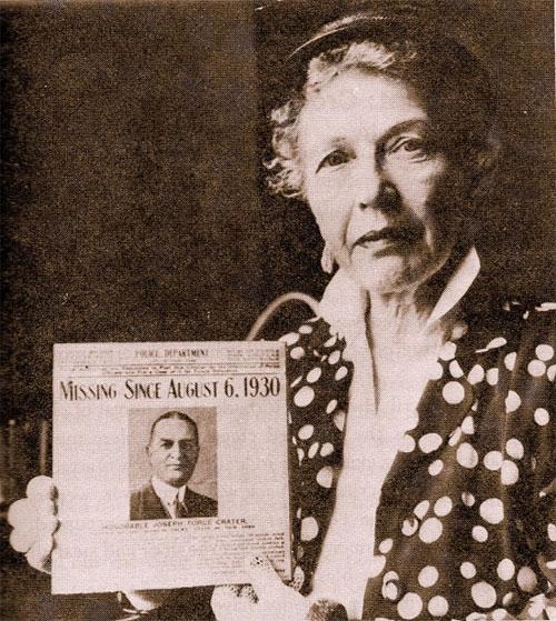 Vợ của Joseph Force Crater và thông báo tìm chồng mất tích