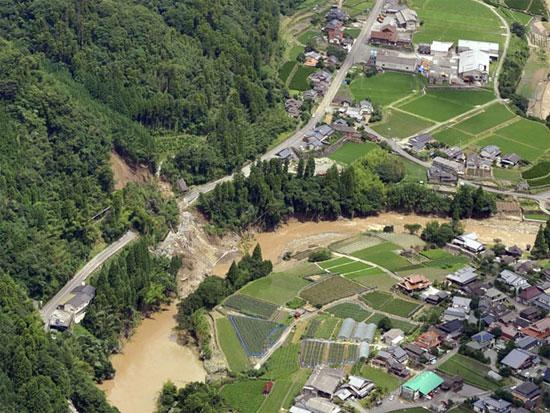 Cảnh báo mưa lớn chưa từng có ở miền Tây Nhật Bản