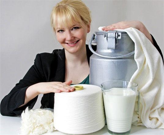 Quần áo làm từ... sữa