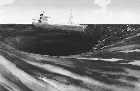 Các nhà khoa học cho rằng, nếu một con tàu lọt vào bùng nổ túi khí mêtan ở Tam giác Bermuda, nó có thể bị nuốt chửng tnhanh chóng mà không để lại dấu tích.