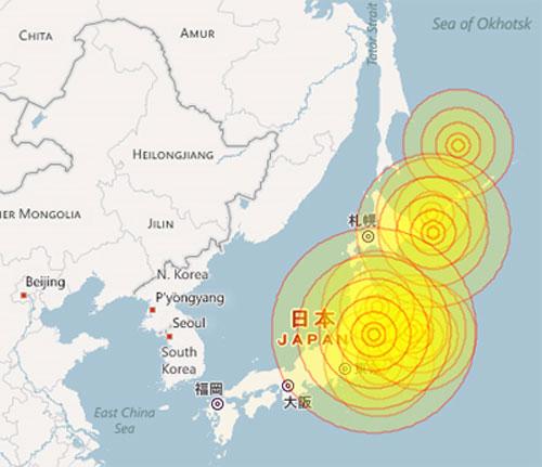 Động đất gây cảnh báo sóng thần tại Nhật