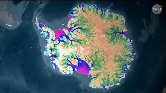 NASA hoàn thành bản đồ sông băng đầu tiên của Nam cực