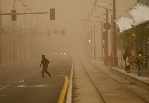 Bão bụi xuất hiện tại nhiều thành phố thuộc bang Arizona, Mỹ vào ngày 18/8 với tốc độ từ 48 tới 64 km/h.